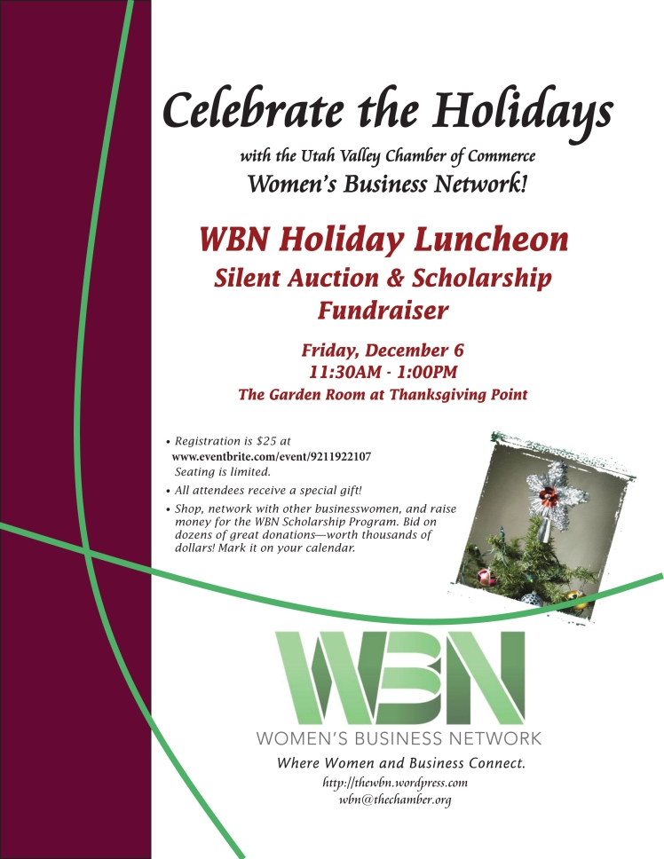 2013 Holiday Luncheon flyer